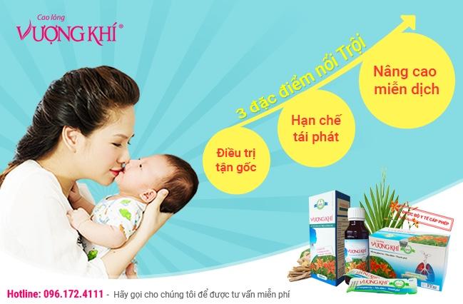Cao lỏng Vượng Khí đặc biệt hiệu quả với trẻ ho đờm sổ mũi.